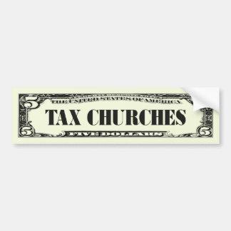 Iglesias del impuesto pegatina para auto