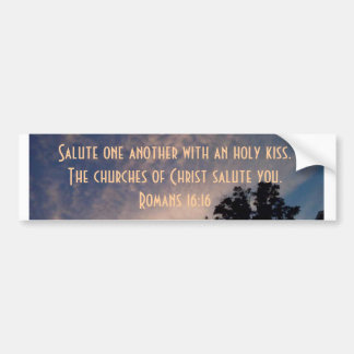 Iglesias del saludo de Cristo usted Pegatina Para Auto