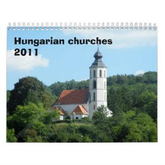 Iglesias húngaras 2011 calendario