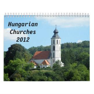 Iglesias húngaras 2012 calendarios de pared