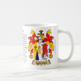 Iglesias, the Origin, the Meaning and the Crest Coffee Mug