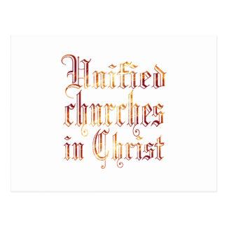 Iglesias unidas en Cristo Postal