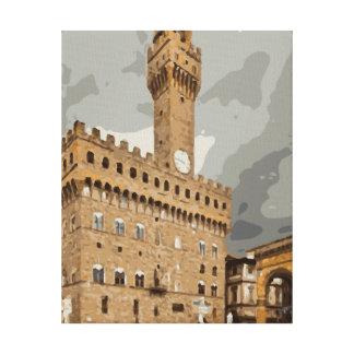 Iglesias y edificios italianos antiguos lona envuelta para galerías