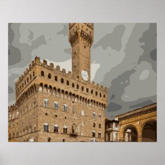 Iglesias y edificios italianos antiguos impresiones