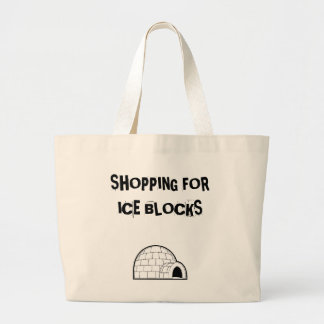 igloo 1, SHOPPING FORICE BLOCKS Canvas Bags