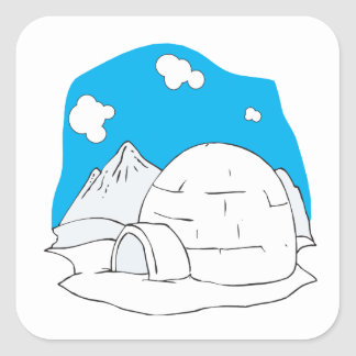 Igloo 2 square sticker