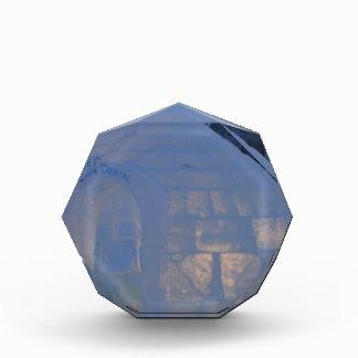 Igloo  building water crystals  compression acrylic award