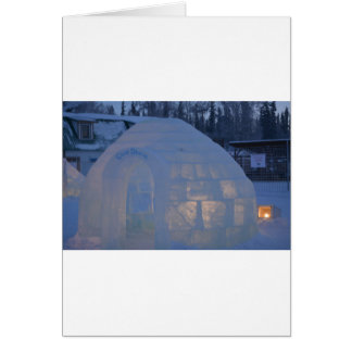 Igloo  building water crystals  compression card