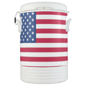 Igloo Cooler - 4th of July - Cold Drinks - Picnic Igloo Beverage Cooler