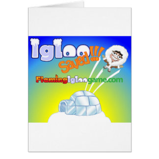 Igloo Saved Flaming Igloo Game Card
