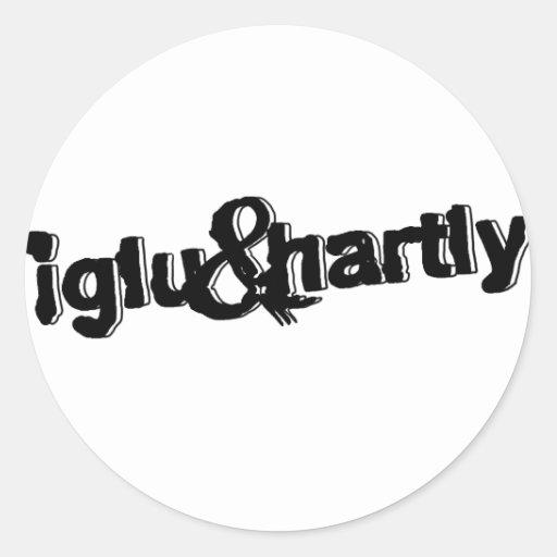 Iglu y logotipo de Hartly Pegatinas