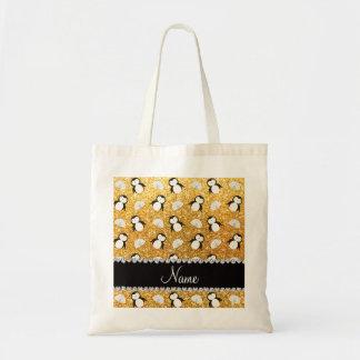 Iglúes amarillos conocidos personalizados de los bolsa tela barata