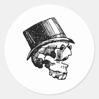 Ignacio Tenorio Suarez. Circa 1886 Mexico Classic Round Sticker