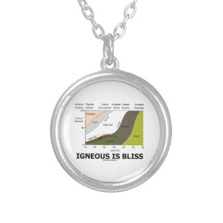 Igneous Is Bliss (Silica Content Igneous Rocks) Round Pendant Necklace