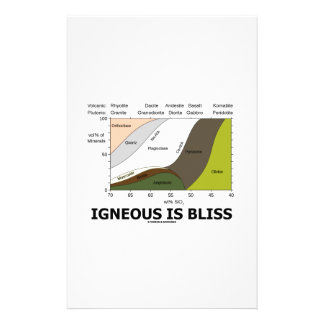 Igneous Is Bliss (Silica Content Igneous Rocks) Stationery