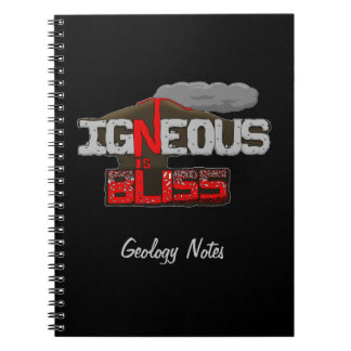 Igneous is Bliss Volcano Notebook Spiral Note Book