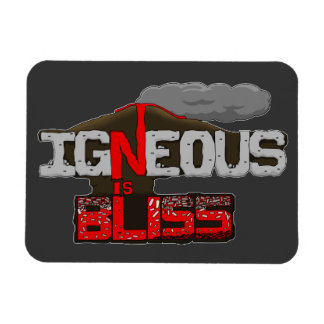 Igneous is Bliss Volcano Rectangle Magnets