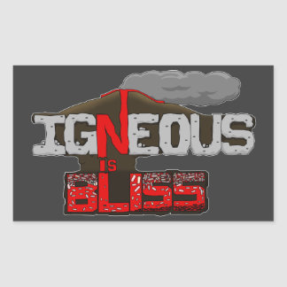 Igneous is Bliss Volcano Sticker Sheet