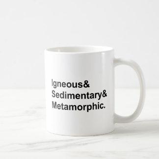 Igneous Sedimentary Metamorphic | Types of Rocks Coffee Mug