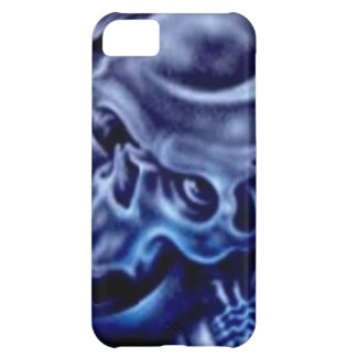 Ignite blue skull cover for iPhone 5C