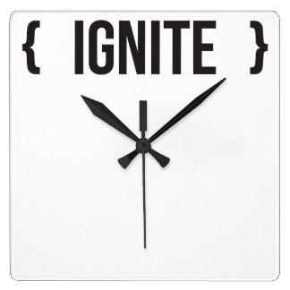 Ignite - Bracketed - Black and White Wall Clocks