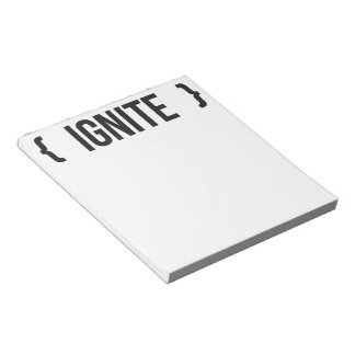 Ignite - Bracketed - Black and White Note Pads