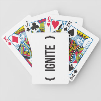 Ignite - Bracketed - Black and White Bicycle Poker Deck
