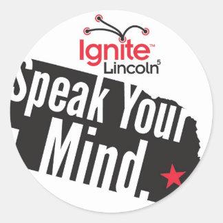 """Ignite Lincoln 2013 Sticker 3"""""""