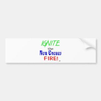 Ignite the New Energy Fire Bumper Sticker