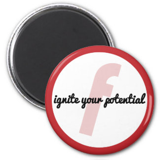 Ignite Your Potential (CIrcle) Fridge Magnets