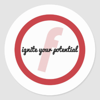 Ignite Your Potential (CIrcle) Stickers