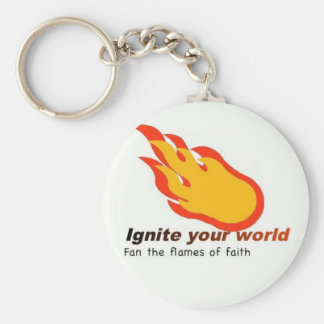 Ignite Your World - Fan the Flames of Faith Keychain