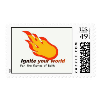 Ignite your world postage