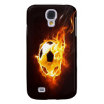 Ignited Soccer Ball iPhone 3G 3GS Case Samsung Galaxy S4 Covers