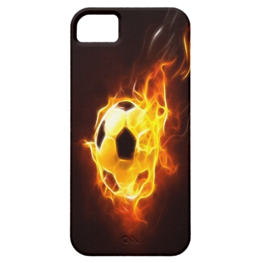 Ignited Soccer Ball iPhone 5 Case