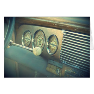 """""""Ignition"""" Antique Classic Car Greeting Card"""