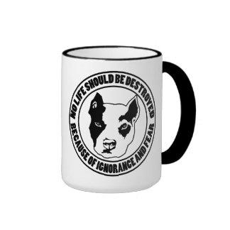 Ignorance and Fear Destroys Life Ringer Coffee Mug