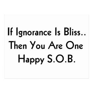Ignorance is bliss postcard