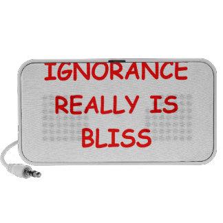 ignorance is bliss portable speaker