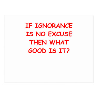 ignorance postcard