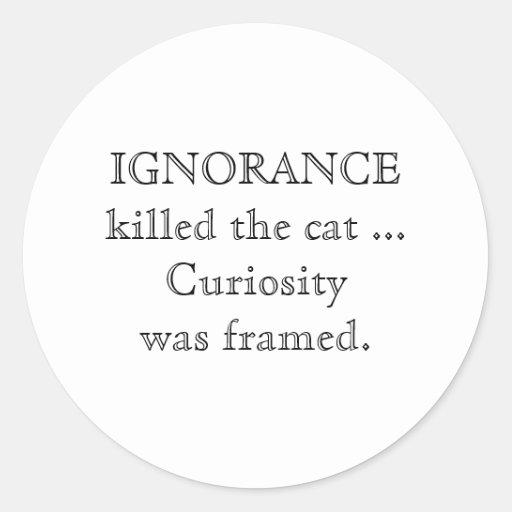 Ignorance_small_caps Classic Round Sticker