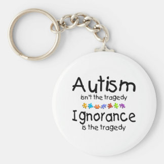 Ignorancia del autismo llavero redondo tipo pin