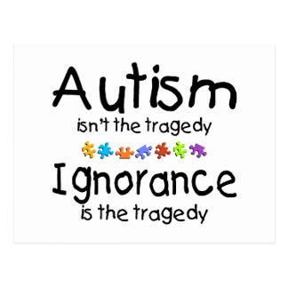 Ignorancia del autismo postales