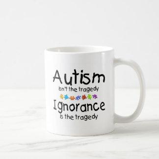 Ignorancia del autismo taza