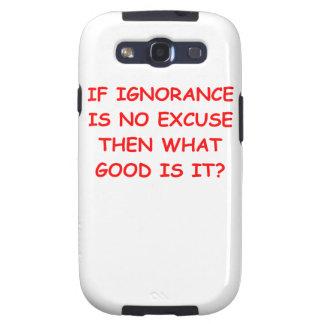 ignorancia galaxy s3 fundas