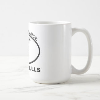 IGNORANCIA NO PITBULL DE LA PROHIBICIÓN PITBULL TAZA DE CAFÉ