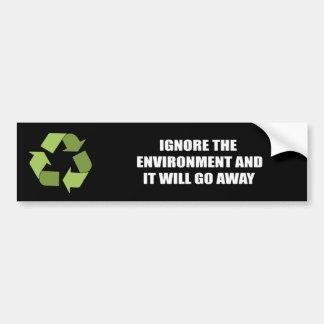 Ignore el ambiente y saldrá etiqueta de parachoque