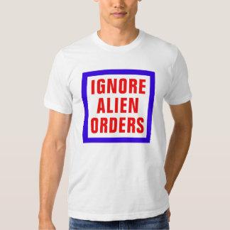 Ignore las órdenes extranjeras camisas