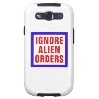Ignore las órdenes extranjeras galaxy s3 cobertura