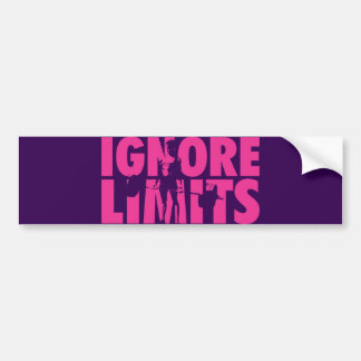 IGNORE LIMITS - Women's Weightlifting Motivational Bumper Sticker